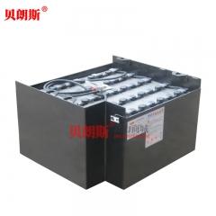 8DB480/48V电动铲车蓄电池品牌 丰田1.4T电动铲车电瓶安装图片