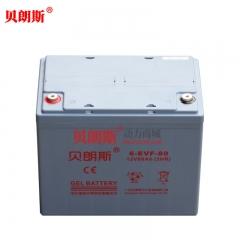 贝朗斯6-EVF-70胶体动力电池12V70Ah 永恒力叉车EMC110仓储叉车电动堆垛搬运车电瓶