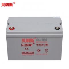 【胶体】巡逻车电池6-EVF-100 电动巡逻车免维护蓄电池12V100Ah
